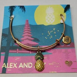 Alex and Ani Pinapple Enamel Bracelet